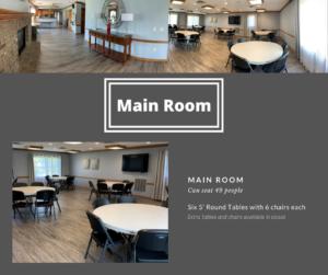 Park Place Community Center - Main Room Photos